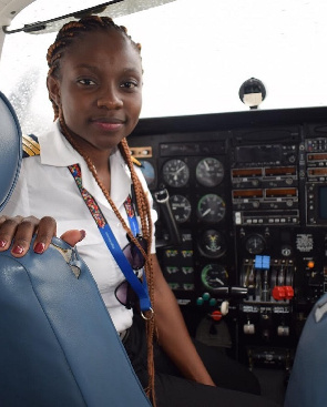 ghana's youngest pilot